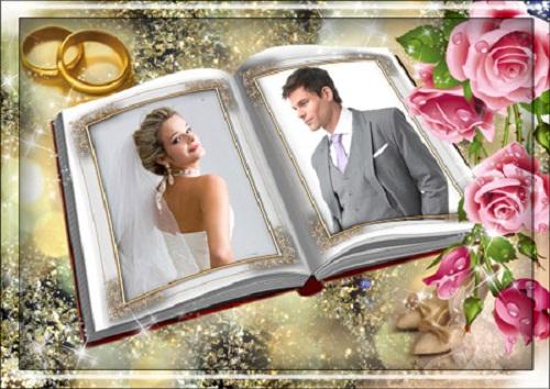 دانلود فریم و قاب عکس فوق العاده زیبای ازدواج Wedding Photo Frame - My desired