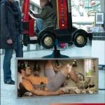 تصاویر سه بعدی روی تجهیزات شهری