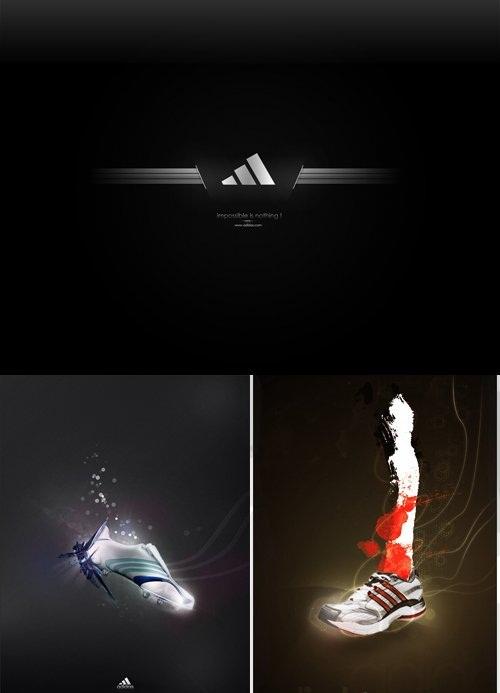 دانلود طرح لایه باز لوگو و آرم آدیداس Adidas Light Logo Psd for Photoshop