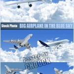 دانلود تصاویر استوک هواپیما Big airplane in the blue sky – Stock Photo