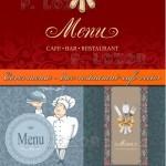 دانلود کاورهای زیبا برای منو رستوران ها و کافه ها Cover menu – restaurant & cafe vector