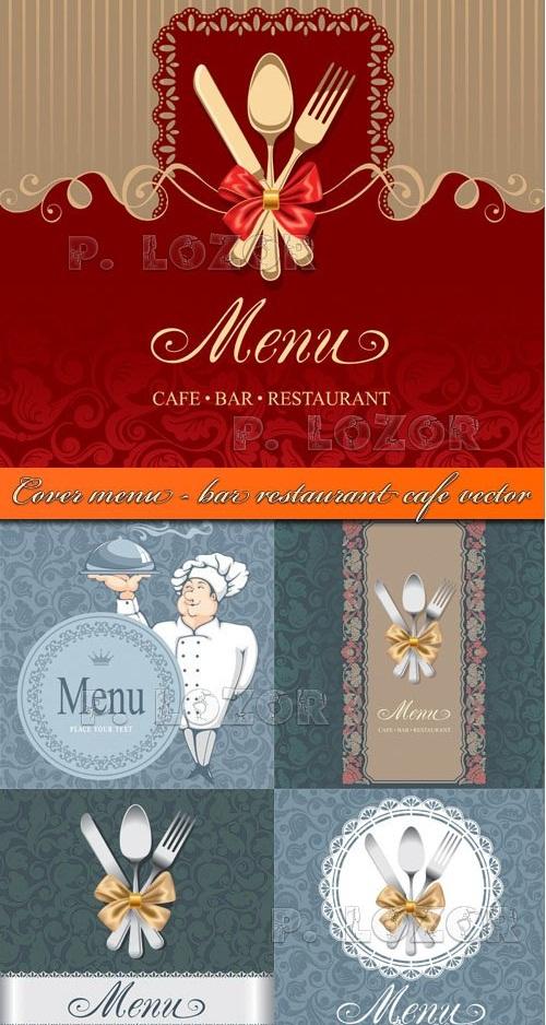 دانلود کاورهای زیبا برای منو رستوران ها و کافه ها Cover menu - restaurant & cafe vector
