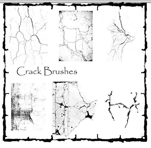 دانلود براش ترک و شکستگی برای فتوشاپ Crack Brushes Pack for Photoshop