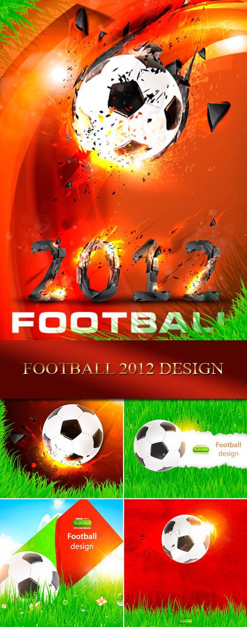 دانلود طرح های وکتوری فوتبال Football 2012 design