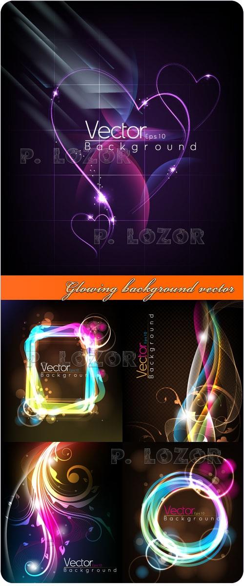 دانلود وکتور های بکگراند با پس زمینه نورانی Glowing background vector