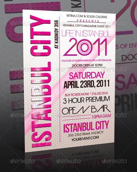 دانلود طرح لایه باز تبلیغات مناسبتی GraphicRiver Event Flyer Template