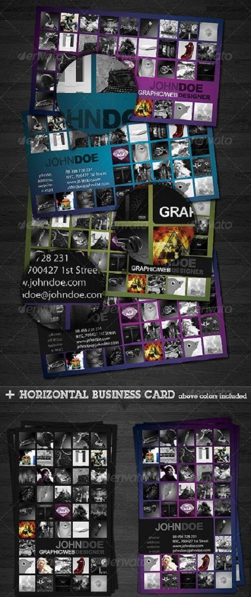 به راحتی کارت ویزیت بسازید با GraphicRiver Portfolio Business Card 2.0