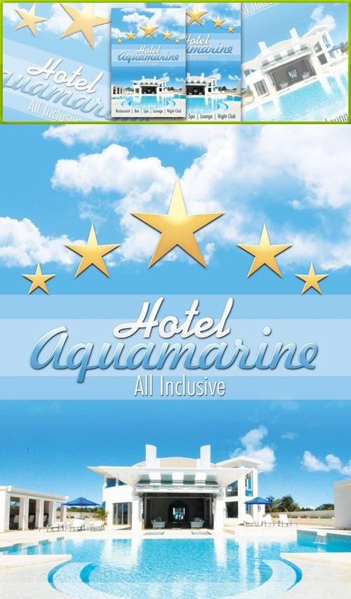 دانلود طرح لایه باز پوستر برای هتل ها Hotel Flyer Psd