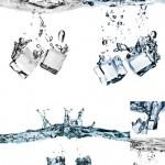دانلود تصاویر استوک قطعات یخ Ice Cubes Stock Photo