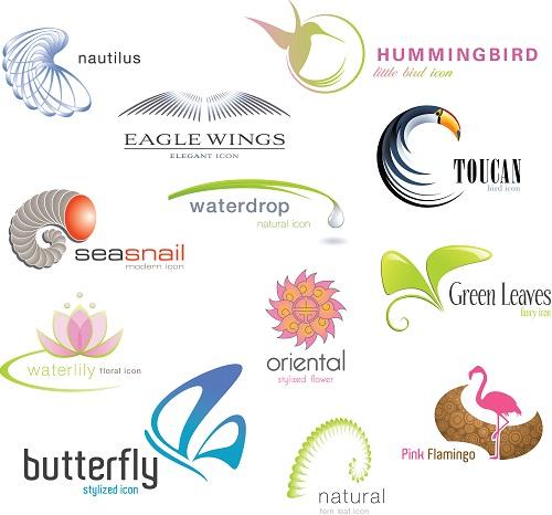 دانلود وکتور لوگوهای زیبا با الهام از طبیعت Nature Style Logo Vector