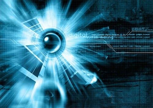 دانلود طرح لایه باز دیجیتالی آبی PSD - Blue Digital Template