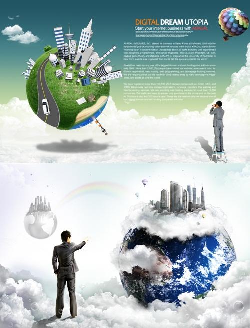 دانلود تصاویر لایه باز تبلیغاتی و تجاری PSD Sources New Global Advertising