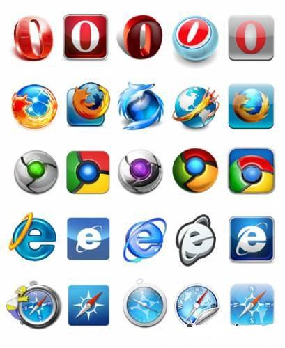 دانلود 340 آیکون مختلف از آیکون های مرورگرهای وب Set of icons for web browsers