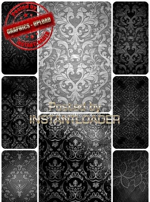 دانلود تکسچر با الگوهای نقره ای زیبا Silver Patterns  - Texture