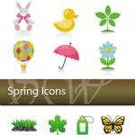 دانلود پک وکتور آیکون ها بهاری Spring Icons Vector