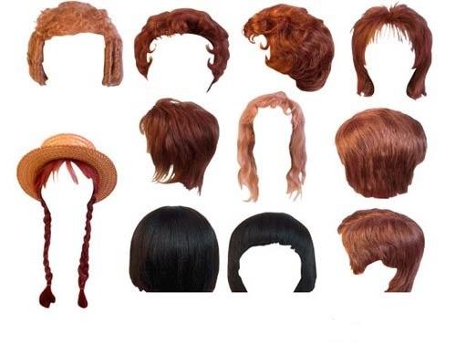 مجموعه ای از مدل های مو برای طراحی در فتوشاپ Template for Photoshop - selection of hairstyles