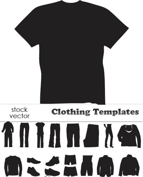 دانلود طرح سیاه وکتور لباس Vectors - Clothing Templates