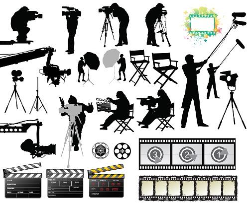 دانلود وکتور مربوط به سینما و فیلم سازی Film Vector Collection