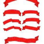 دانلود طرح لایه باز روبان A set of red ribbons psd for Photoshop