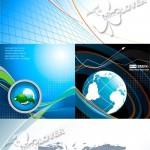 دانلود وکتور تصاویر و بکگراند های گرافیکی Abstract background with globe