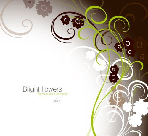 دانلود پس زمینه لایه باز با طرح گل برای فتوشاپ Bright Flowers Psd for Photoshop