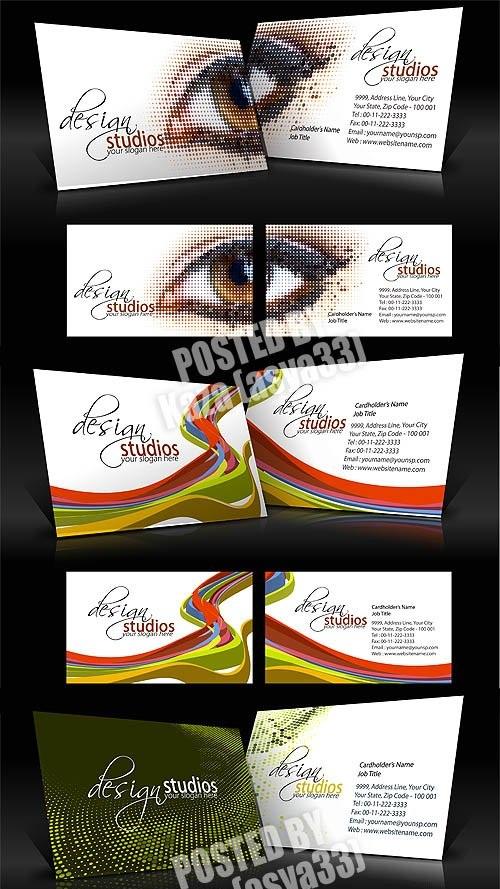 دانلود 3 طرح وکتور کارت ویزیت Business cards Vector