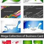 مجموعه تصاویر وکتور کارت ویزیت Business cards Vector