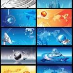 دانلود وکتورهای بکگراند با موضوع تکنولوژی Business technology background