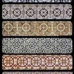 دانلود تکسچر یا بافت کاشیکاری با طرح های ایرانی Collection of tiled textures
