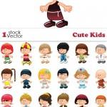 دانلود طرح وکتور زیبای کودکان Cute Kids Vector