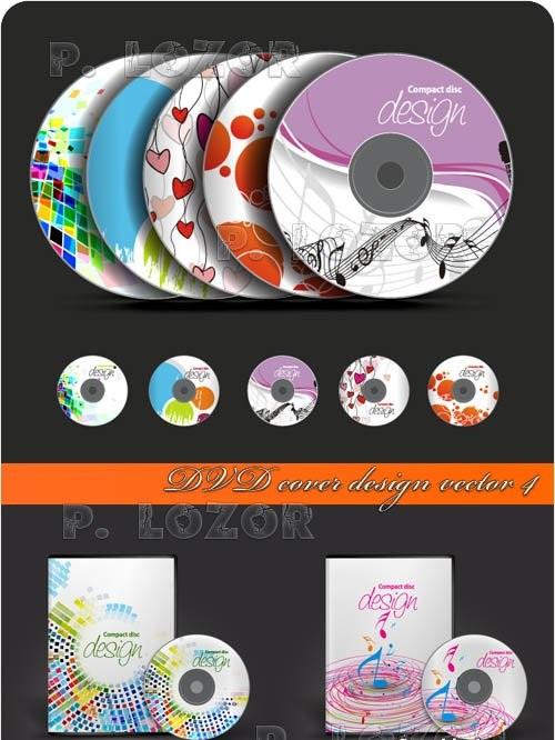 دانلود وکتور طرح روی CD و قاب CD