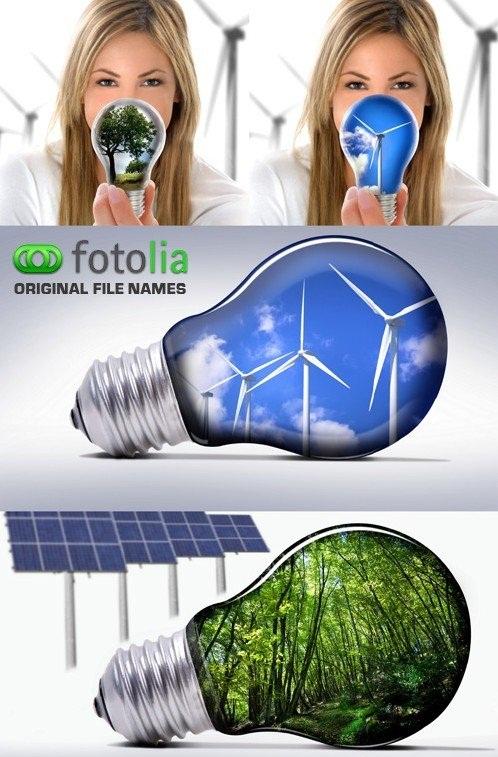 دانلود تصاویر استوک تکنولوژی و انرژی پاک Eco Technology - Stock Photo