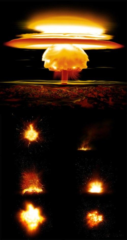 دانلود طرح لایه باز انفجار و آتش برای فتوشاپ Fire blast – psd file