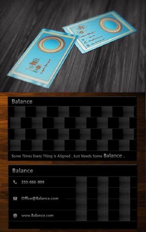 دانلود 2 طرح لایه باز کارت ویزیت شماره 26