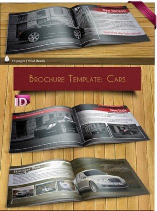 دانلود بروشور ایندیزاین اتومبیل InDesign Brochure Template Cars