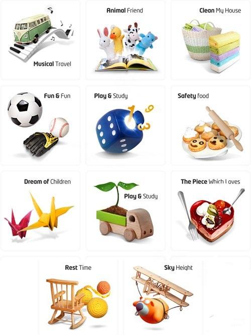 دانلود فایل سور فتوشاپ اسباب بازی Sources Psd Children Toys for Photoshop