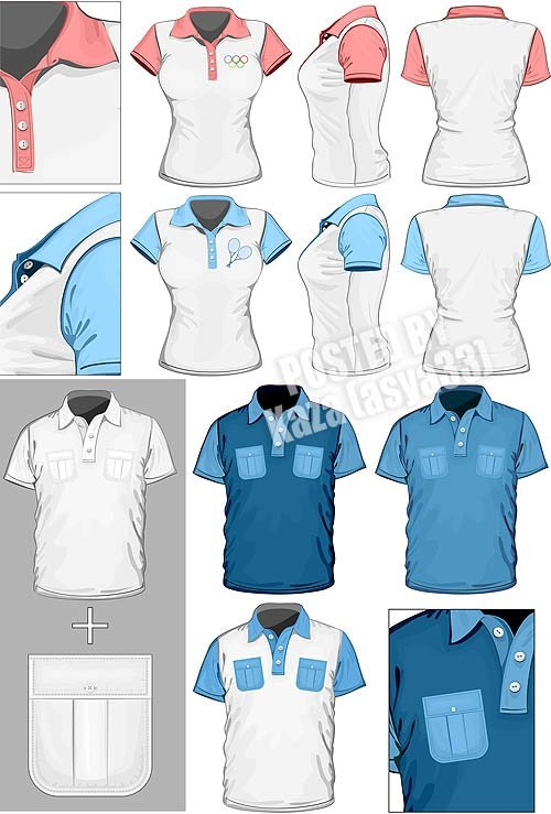 دانلود تصاویر وکتور تی شرت T-shirt vector