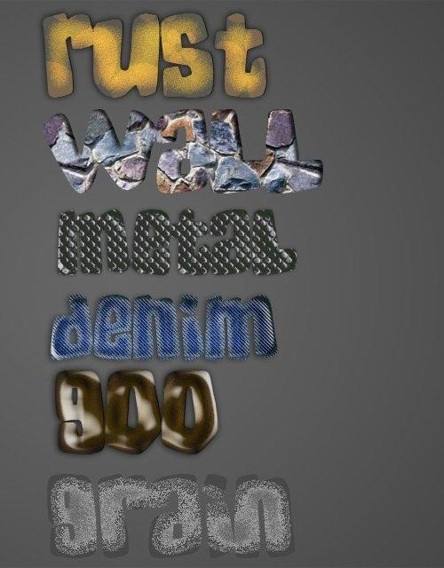 دانلود تکسچر و استایل های زیبای متن برای فتوشاپ Text Textured Style for Photoshop