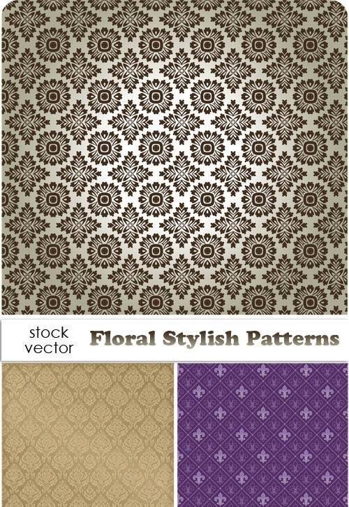 دانلود الگوهای وکتوری زیبا با طرح پس زمینه گل