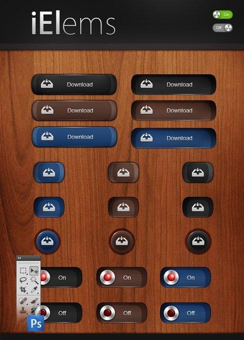 دانلود طرح های لایه باز علائم و دکمه های طراحی وب