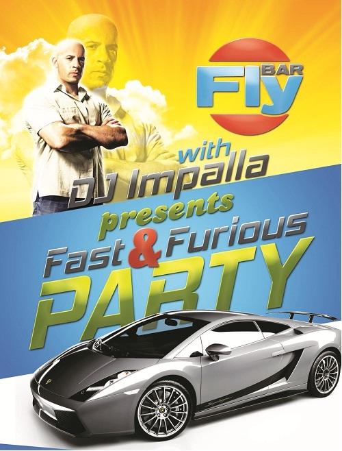 دانلود پوستر لایه باز سریع و آتشین Fast & Furious Party Flyer Psd