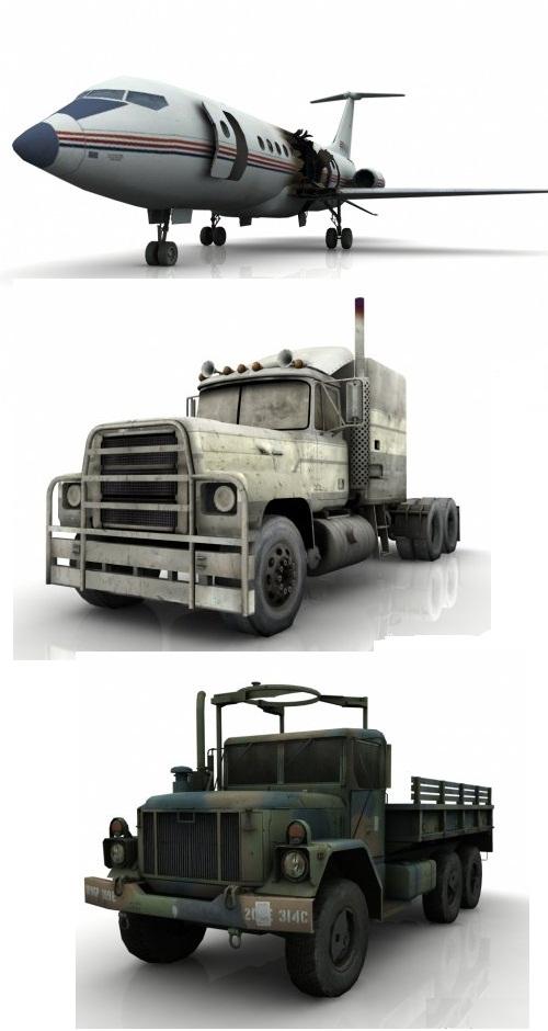 دانلود مدل های 3 بعدی وسایل حمل و نقل مخصوص بازی