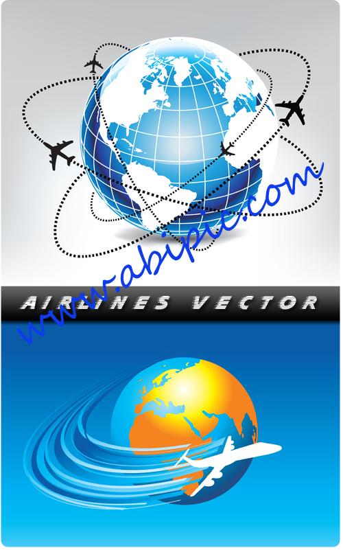 دانلود 5 طرح وکتور خطوط هوایی Airlines vector