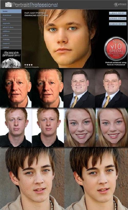 دانلود نسخه قابل حمل نرم افزار روتوش عکس  Anthropics Portrait Professional 10.8.2
