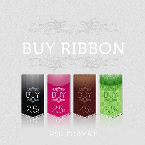 طرح های لایه باز PSD روبان خرید Buy Ribbon psd for Photoshop