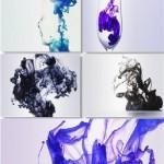 دانلود تصاویر کلیپ آرت زیبا از پخش جوهر در آب