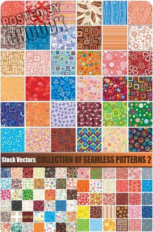 دانلود مجموعه کاملی از الگوهای وکتوری Collection of seamless patterns