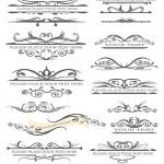 دانلود وکتور علائم کادر و حاشیه زیبا برای طراحی صفحات