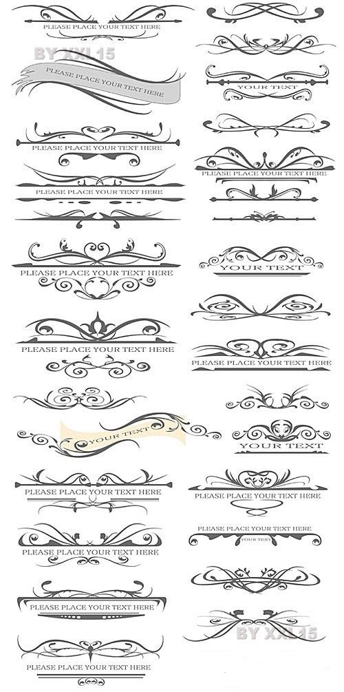 دانلود وکتور علائم کادر و حاشیه زیبا برای طراحی صفحات Design elements for page