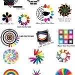 دانلود وکتور لوگوهای داینامیک Dynamic color logo pattern